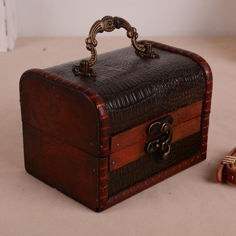 做旧欧式珠宝盒 木质首饰盒