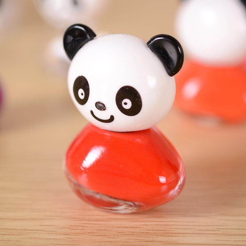 正品 可爱熊猫造型指甲油 糖果色女生指甲彩妆 美甲配饰用品 颜色混发