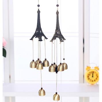 正品 巴黎铁塔金属铝管风铃 居家门饰挂饰 工艺品创意