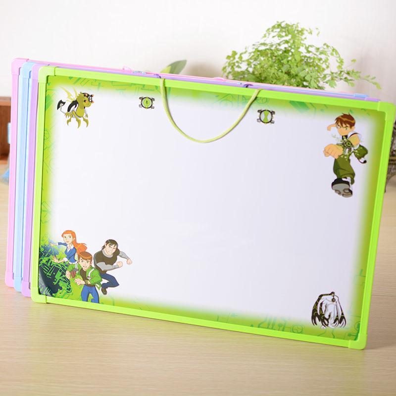 正品 大白板动物卡通可爱儿童 磁性白板 卡通白板背面带英文学习 颜色