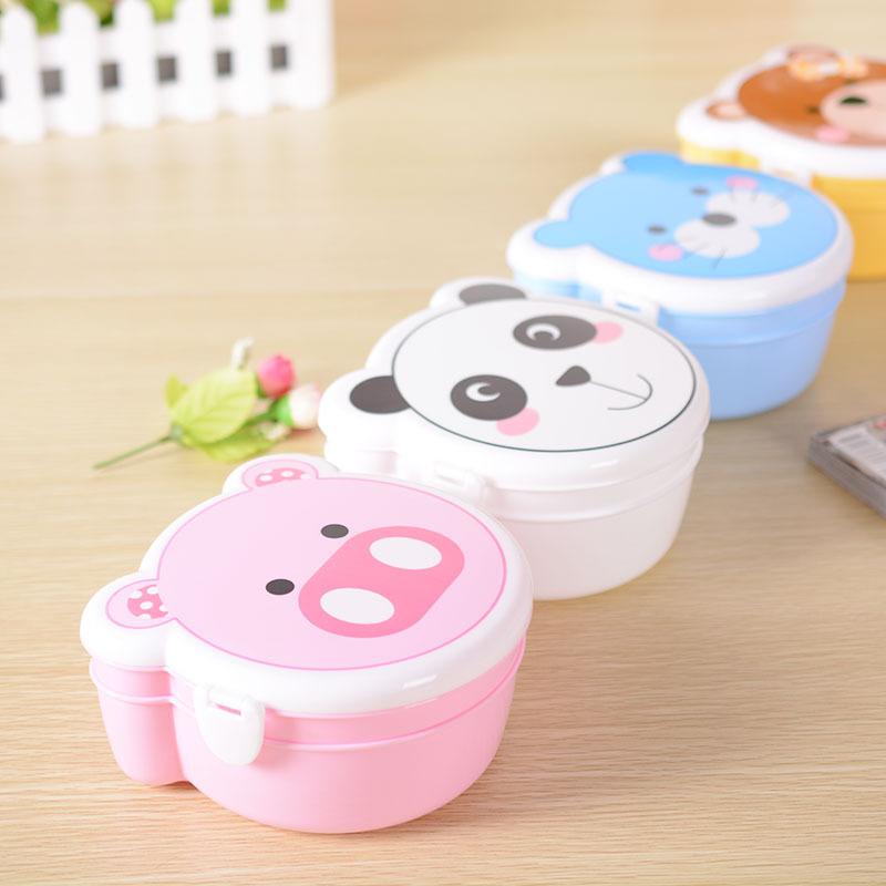正品 可爱动物头造型饭盒 创意造型惹人喜爱 淘宝热销中 颜色混发