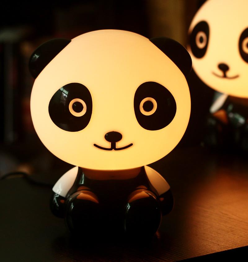 正品 超萌博士熊猫台灯 时尚优酷家居良品护眼灯小夜灯 颜色混发