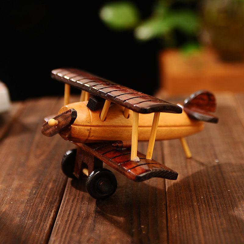 正品6寸彩色木质大飞机模型